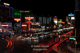 Las Vegas Street at Night, Nevada, USA