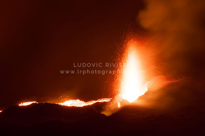 Fontaine de lave, Eruption Fournaise 2015