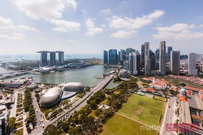 Financial district and Marina bay Sands, Singapore