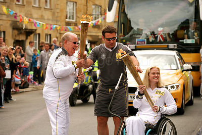 Olympic Torch Changeover in Chipping Campden