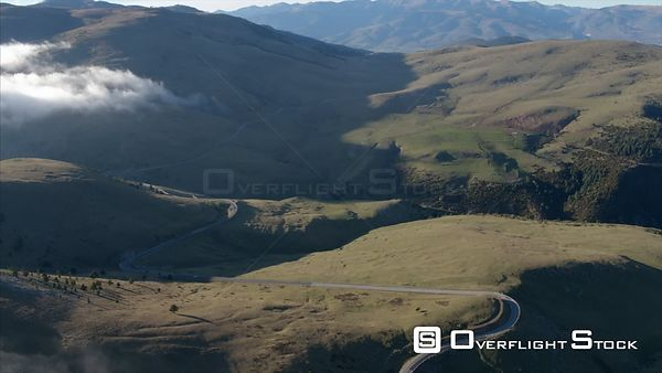 Mountain Roads in La Molina Ski Area in the Pyrenees Mountains of Spain