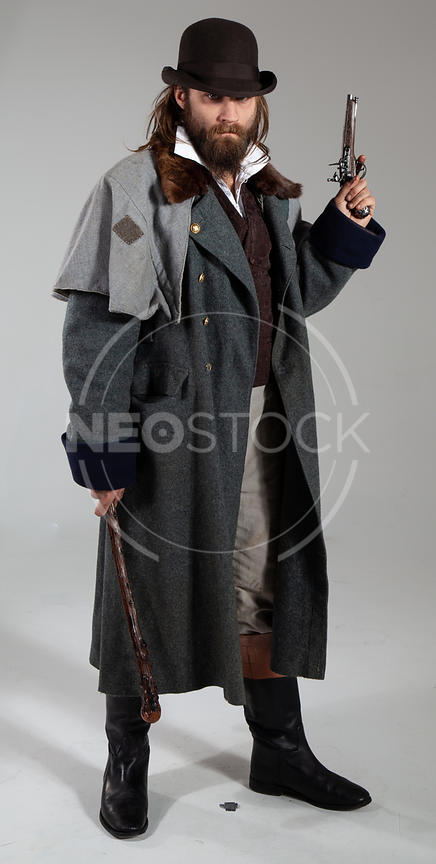 Karlos Victorian Villain Stock Photography