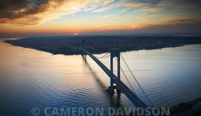 Verrazano–Narrows Bridge aerial photograph