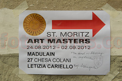 SAM St.Moritz Art Masters 2012 Walk of Art Letizia Cariello