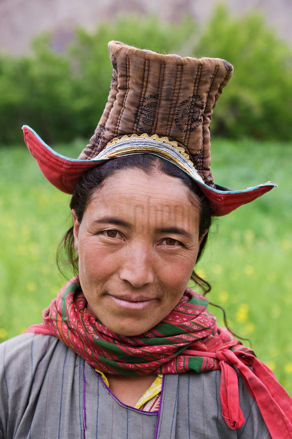 Ladakhi Woman Working in the Fields