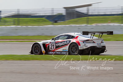 Strata 21 Motorsport Aston Martin Vantage GT3 in action at the Silverstone 500 - the third round of the British GT Championsh...