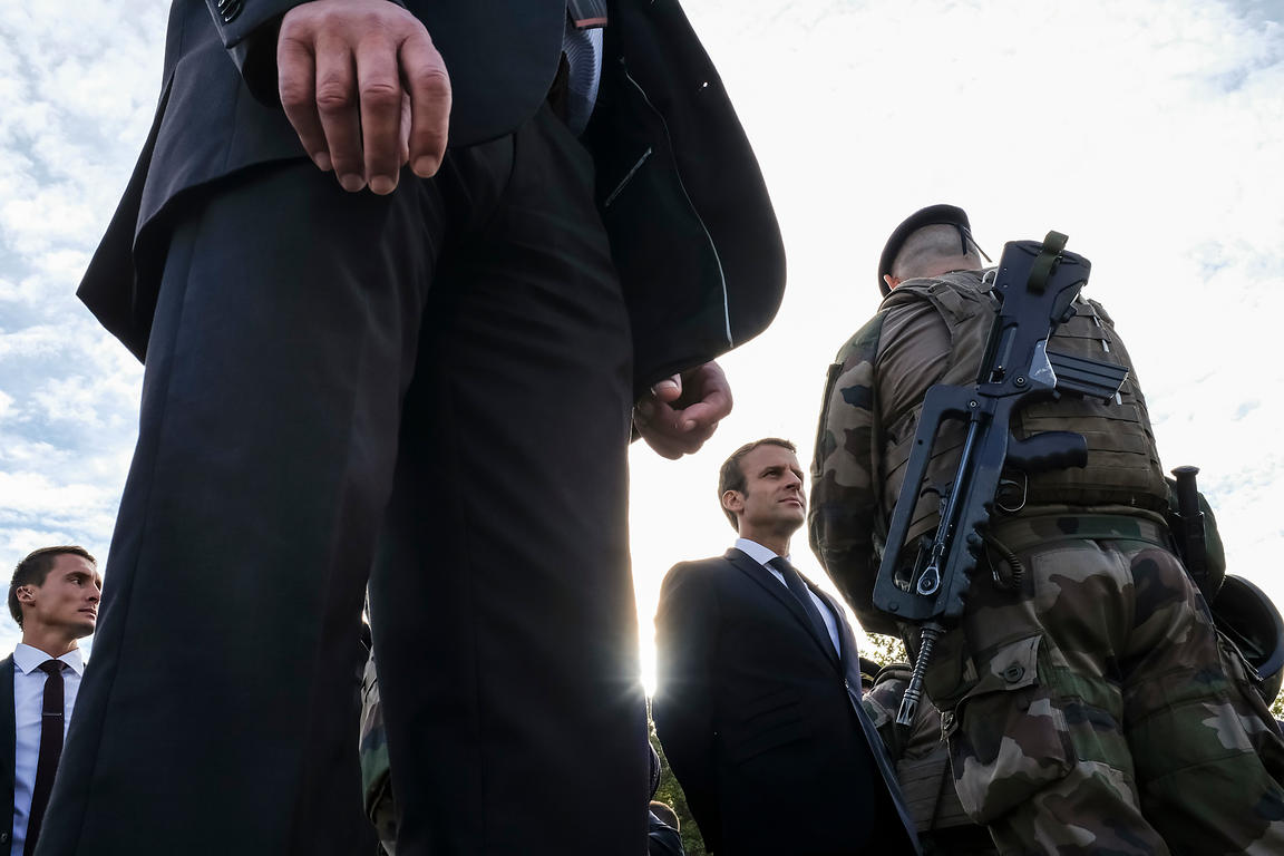 French president meets order forces in Lyon