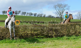 jumping the last hedge - Harborough Ride 2014