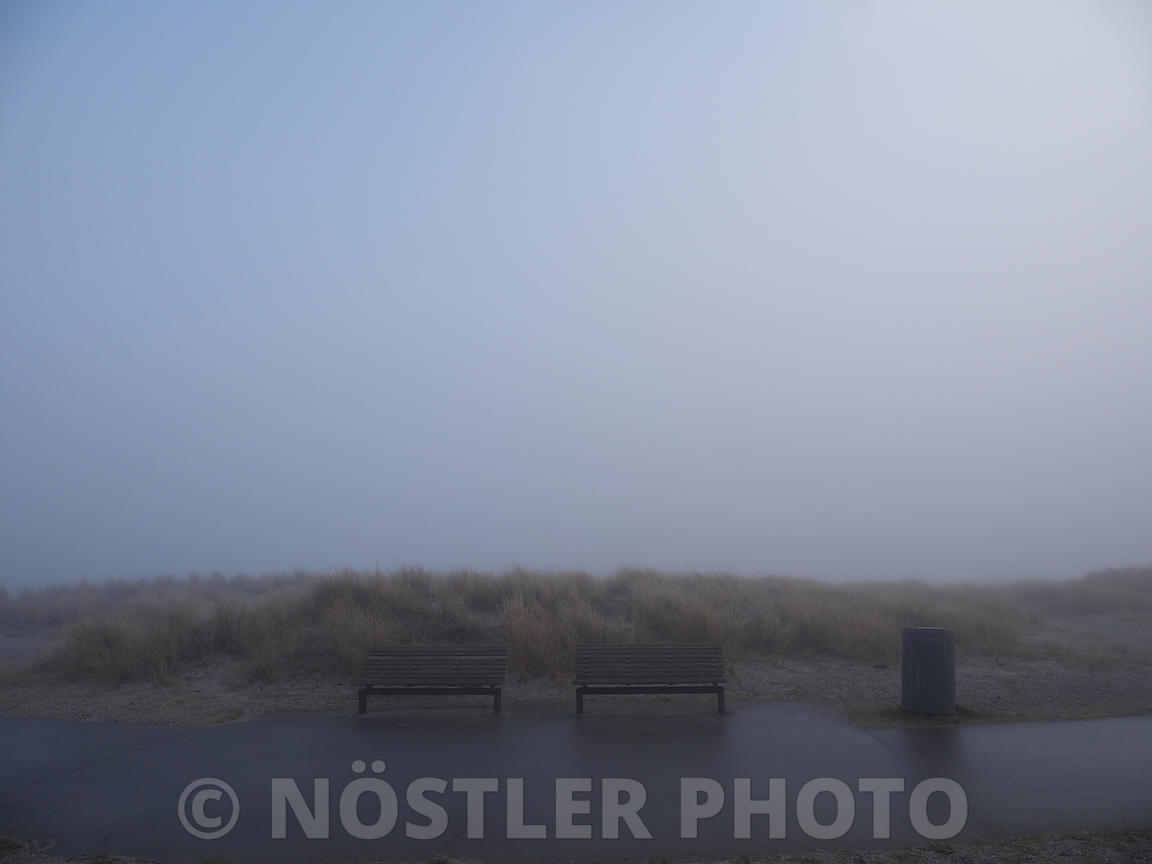 Misty morning at the beach