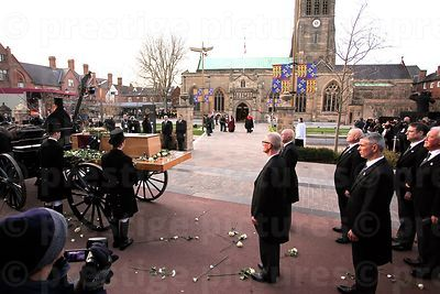 Pall Bearers Approach the Carriage to Carry Richard III's Coffin into the Cathedral