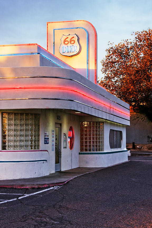 Route 66 Cafe at Sunset