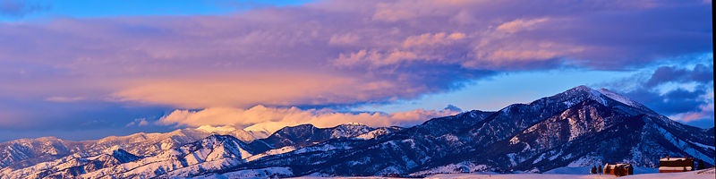 Bridger Winter Sunset Panorama