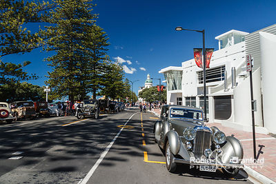 Art Deco Saturday 2014.  License Plate LG45SB Entry # 089  In front of the MTG Hawke's Bay Museum.