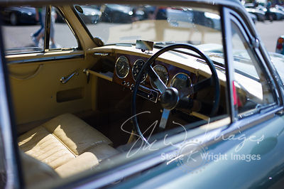 Aston Martin DB2/4 Saloon interior - Part of the Aston Martin Centenary at the Silverstone Classic 2013