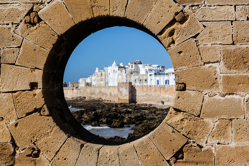 View of the Walled City Through a Hole in the Fortress Wall