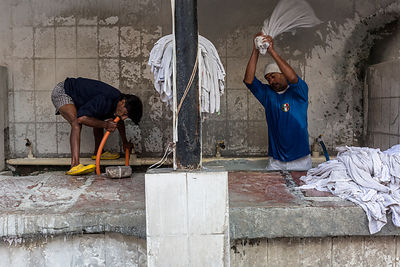 Dhobi Wallahs (Washermen) At Work, New Delhi