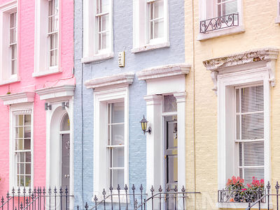 Multicoloured houses, London