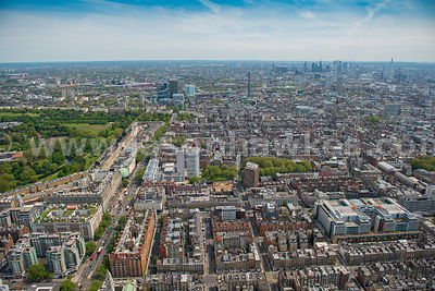 Aerial view of Marylebone, London
