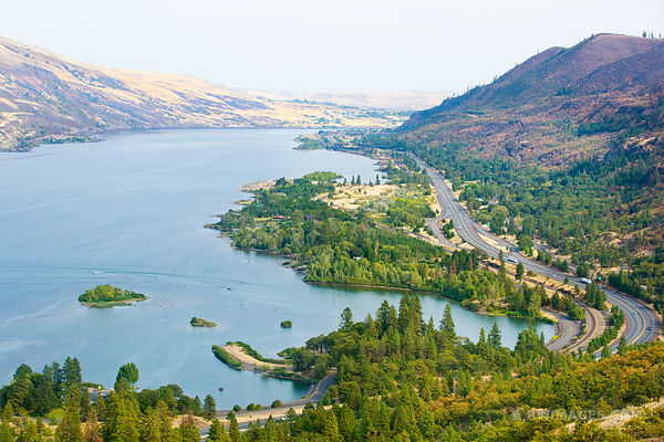 VIEW FROM ROWENA CREST MAYER STATE PARK COLUMBIA RIVER GORGE OREGON COLOR