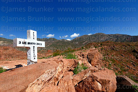 Final cross of Calvario / Stations of the Cross on hilltop above Camargo, Chuquisaca Department, Bolivia