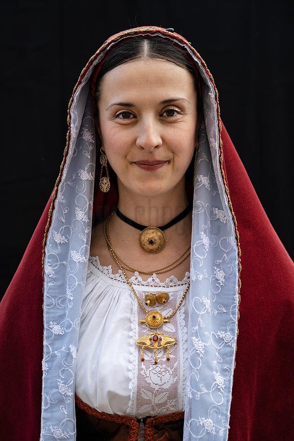Portrait of a Woman in Traditional Costume