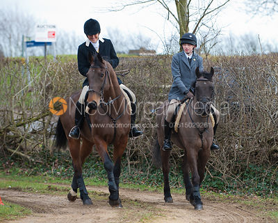 The Cambridge University Drag Hounds at Hill Top Farm, Braunston.