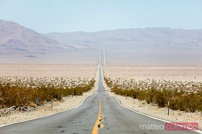 Empty road, Death Valley, California, USA