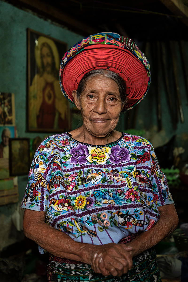 Portrait of María a Well-Known Personality from Santiago Atitlan