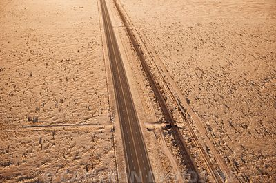 Aerial West Texas Highway