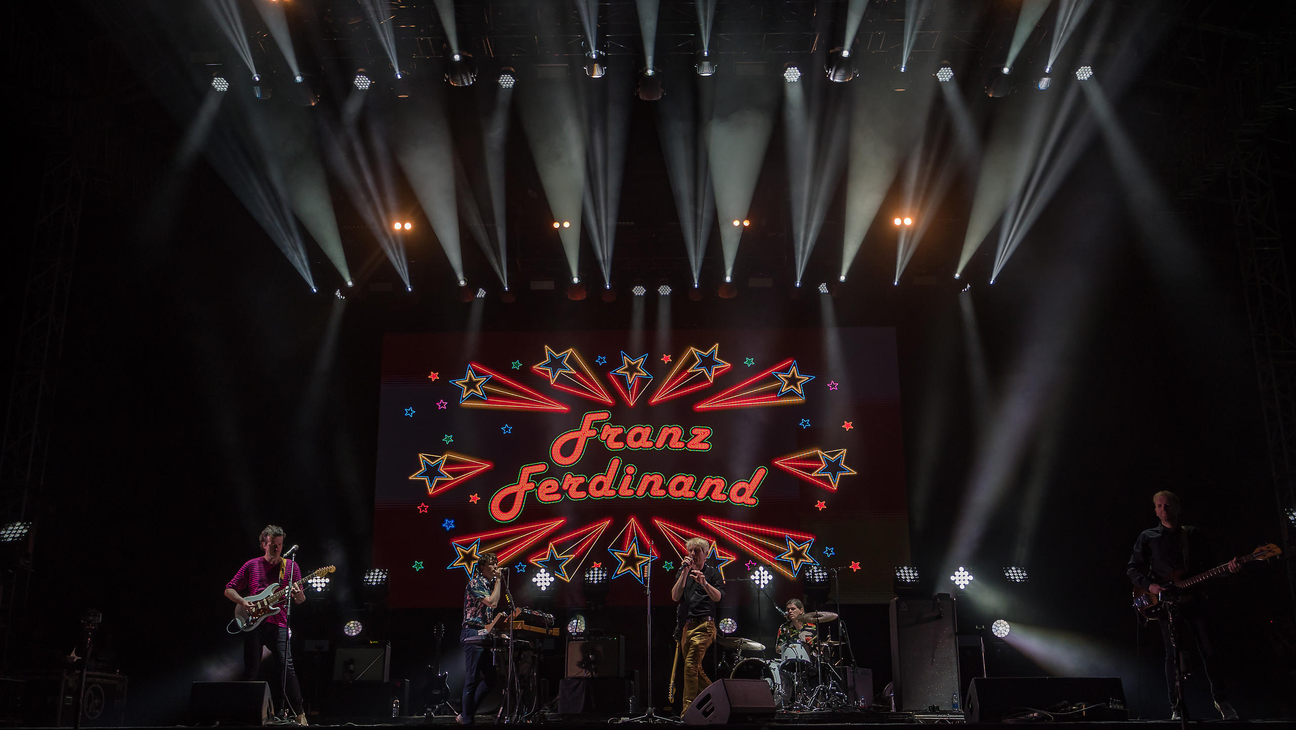 Franz Ferdinand Performing on Sunday Night on the Main Stage at Victorious Festival 2017
