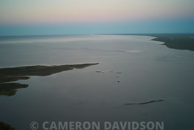 Aerial of Coastal Marshes in Lousiana