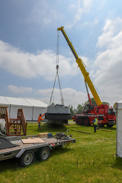 Craning in at Crick ready for the 2018 show