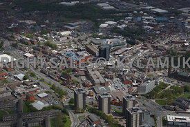 Rochdale aerial photograph looking across St Marys Gate towards the Rochdale Exchange Shopping centre and Rochdale town centre