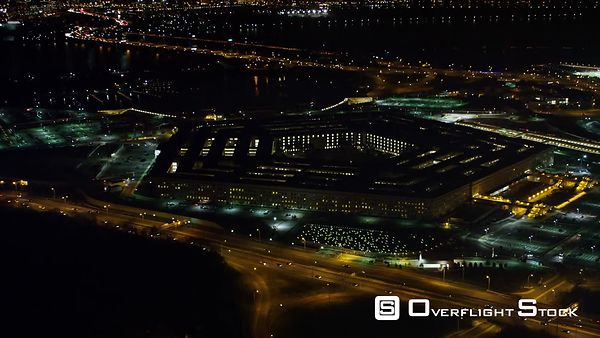 Slow Approach to the Pentagon at Night.