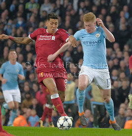 Manchester City v Liverpool, UEFA Champions League, Tuesday 10th April 2018