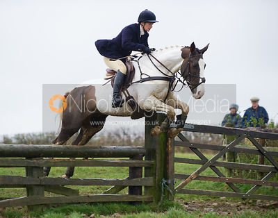 Tiny Clapham jumping fences at Stone Lodge Farm - The Cottesmore at John O'Gaunt 24/11/12