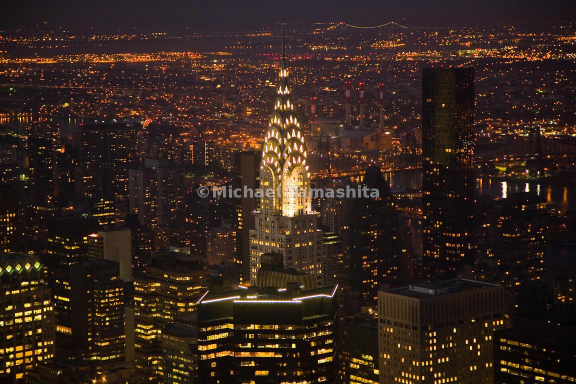 Chrysler Building Lights