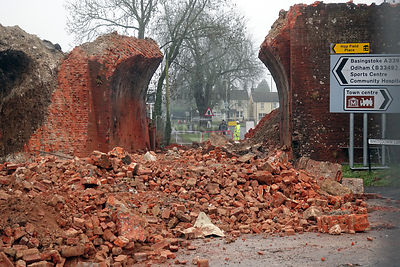 Butts bridge demolished