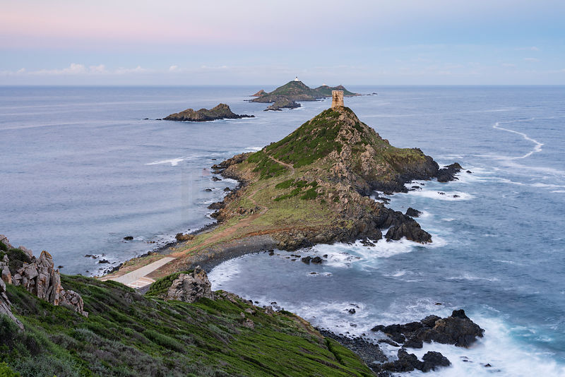 Genoese Tower and Lighthouse at Punta Parata at Dawn