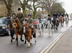 The Cottesmore Hunt process through Oakham on Boxing Day