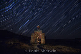 The Bodie Firehouse and Star Trails
