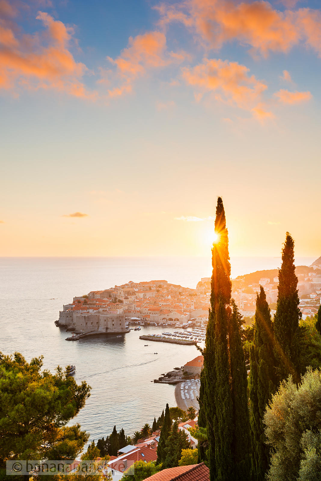 Sunset over the Old Town, Dubrovnik - BP4746