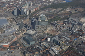N.O.M.A development area the CIS Tower Shudehill Bus and Metro Terminal and Angel Square developments North Manchester