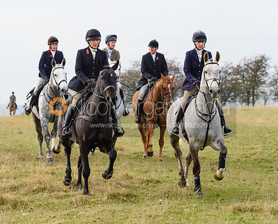 HB, Lizzie Lomas above Braunston. The Cottesmore Hunt at Braunston