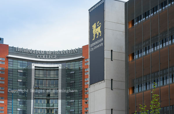 Birmingham Metropolitan College and Birmingham City University in Eastside, Birmingham, West Midlands, England, UK