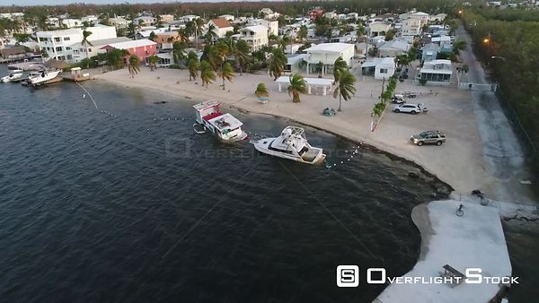 Sinking boats after Hurricane Irma in Key Largo Florida