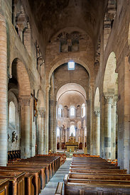 Nave of Saint Saturnin church, Auvergne