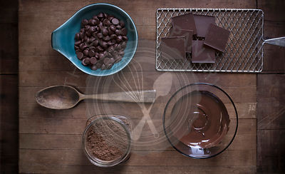 Chocolate baking supplies