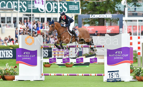 Kevin Staut and FOR JOY VAN'T ZORGVILET HDC - FEI Nations Cup, Dublin Horse Show 2017