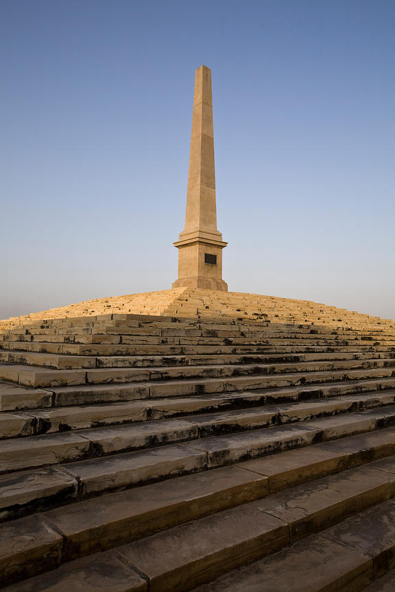 India - Delhi - An obelisk marks the site of the Coronation Durbar near Delhi, India. The site commemorates the Durbar of 191...